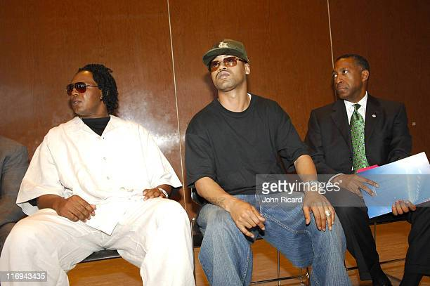 Master P and Juvenile during BET National Urban League and American Red Cross Announce Hurricane Katrina Benefit Telethon at American Red Cross in...