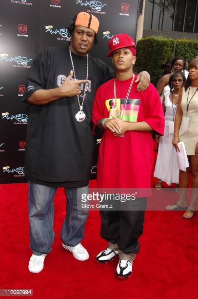 Master P and Lil' Romeo during 6th Annual BET Awards Arrivals at Shrine Auditorium in Los Angeles CA United States