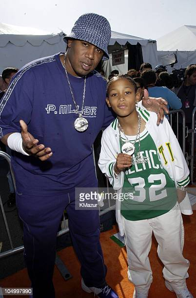 Master P and Lil' Romeo during Nickelodeon's 15th Annual Kids Choice Awards Arrivals at Barker Hanger in Santa Monica California United States