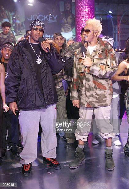 Master P and MTV VJ Teck during 'Spankin New Music Week' on 'Direct Effect' at the MTV studios In New York 11/16/00 Photo Scott Gries/ImageDirect