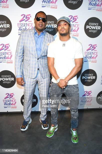 Master P and Romeo Miller attend 2019 ESSENCE Festival Presented By Coca-Cola at Ernest N. Morial Convention Center on July 07, 2019 in New Orleans,...