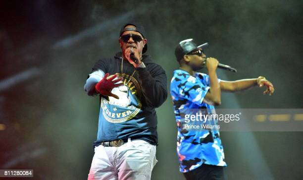 Master P and Silkk The Shocker perform during the 2017 ESSENCE Festival Presented by Coca Cola at the Mercedes-Benz Superdome on July 2, 2017 in New...