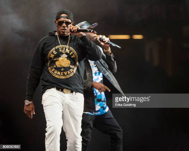 Master P and Silkk The Shocker perform onstage at the 2017 ESSENCE Festival Presented By Coca Cola at the Mercedes-Benz Superdome on July 2, 2017 in...