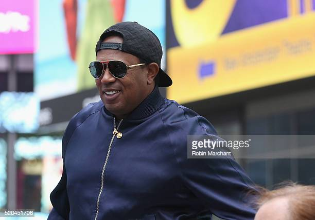 Master P attends Collectors Cafe Presents The Unveiling Of The Original LongLost Jackie Robinson Baseball Contracts at Times Square on April 11 2016...