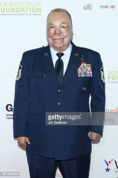 Master Sgt Israel Del Toro attends the 11th Annual Stand Up for Heroes at The Theater at Madison Square Garden on November 7 2017 in New York City