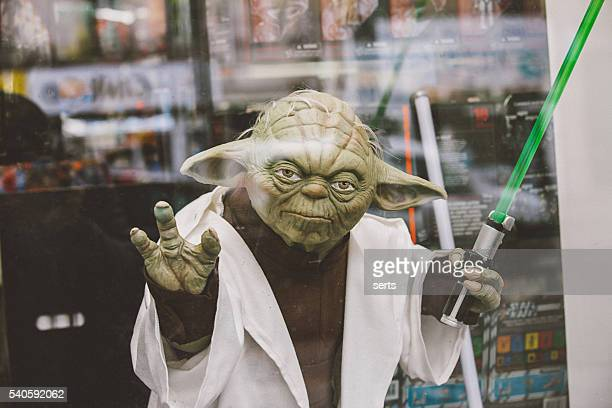 master yoda - lightsaber stock pictures, royalty-free photos & images