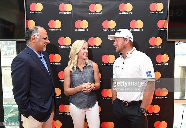 Mastercard Chief Marketing Communications Officer Raja Rajamannar PGA Tour Host Taryn Schaefer and PGA TOUR golfer Graeme McDowell join forces at The...