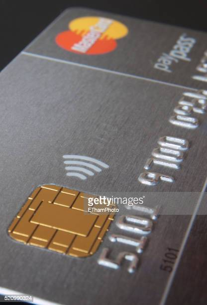 Mastercard credit card with PayPass function