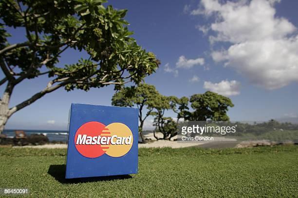 Mastercard signage on during the Thursday ProAm at the 2006 Mastercard Championship at Hualalai resort Kona Hawaii