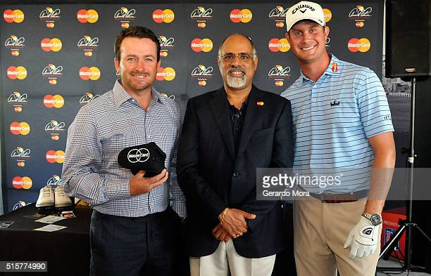 MasterCard's Chief Marketing Officer Raja Rajammanar and PGA TOUR golfers Graeme McDowell and Harris English team up at the Arnold Palmer...