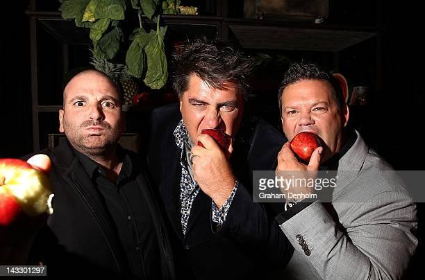 Masterchef judges George Calombaris, Matt Preston and Gary Mehigan attend the Masterchef Australia Network Ten launch party, launching the new series...