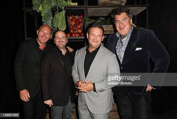 Masterchef judges Matt Moran, George Calombaris, Gary Mehigan and Matt Preston attend the Masterchef Australia Network Ten launch party, launching...