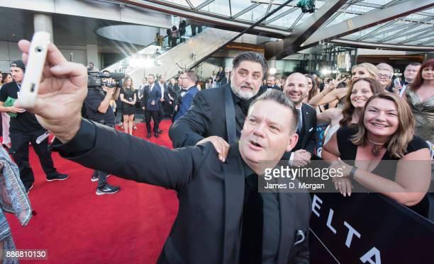 Masterchef stars Gary Mehigan George Calonbaris and Matt Preston during the 7th AACTA Awards at The Star on December 6 2017 in Sydney Australia