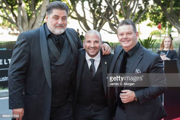 Masterchef stars Gary Mehigan George Calonbaris and Matt Preston during the 7th AACTA Awards at The Star on December 6 2017 in Sydney Australia