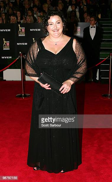 Masterchef winner Julie Goodwin arrives at the 52nd TV Week Logie Awards at Crown Casino on May 2 2010 in Melbourne Australia
