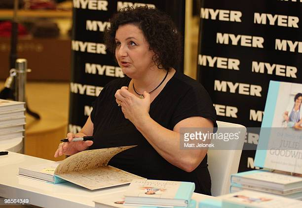 MasterChef winner Julie Goodwin attends a booksigning to promote her new cookbook 'Our Family Table' at the MYER City store on April 20 2010 in Perth...