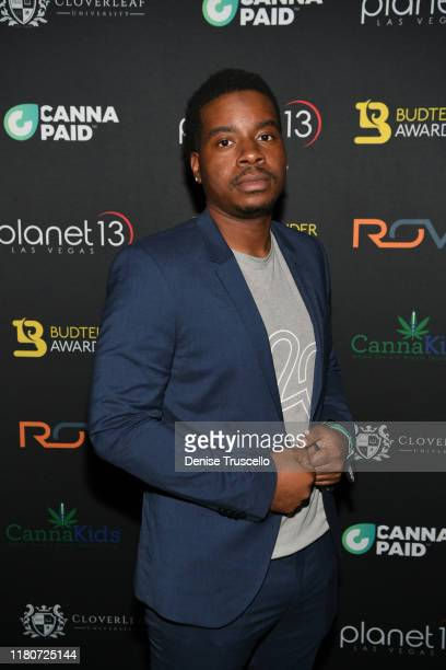 Mastermind Award finalist Brandon Scott from MissionChicago South Side IL arrives at the First Budtender Awards at Light Nightclub at Mandalay Bay...