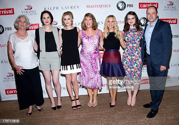 Masterpiece Executive Producer Rebecca Eaton actresses Michelle Dockery Laura Carmichael Phyllis Logan Joanne Froggatt and Sophie McShera and...