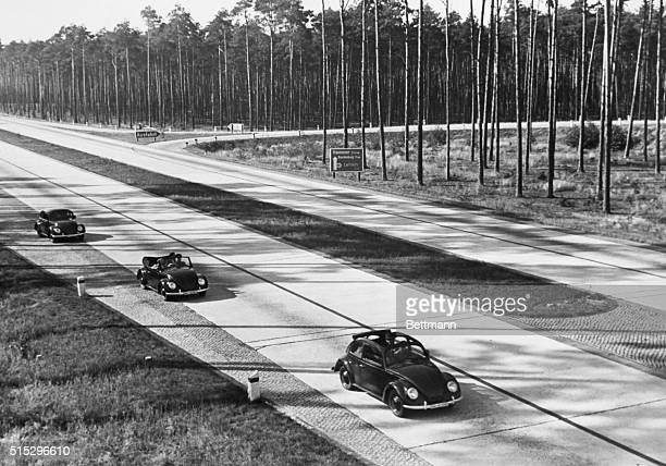 9/28/1938 'A masterpiece of German engineering the KDF wagon on the highway and in the countryside The Volkswagen was presented to the Berlin press...