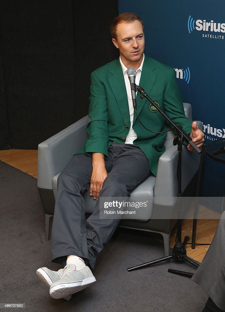 Masters Champion Jordan Spieth visits at SiriusXM Studios on April 14, 2015 in New York City.