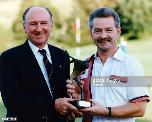 DR Masters golf winner Archie Kidd from Bridge of Weird being presented with his trophy from Endell Laird Editor in Chief of the Daily Record and...