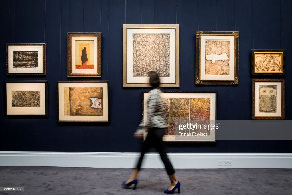 Masterworks from the Diamonstein-Spielvogel Collection go on view as part of Sotheby's Contemporary Impressionist New York TRAVEX highlights preview at Sotheby's on October 6, 2017 in London, England. The Contemporary Art Evening Auction takes place at Sothebys New York on 16th November 2017.