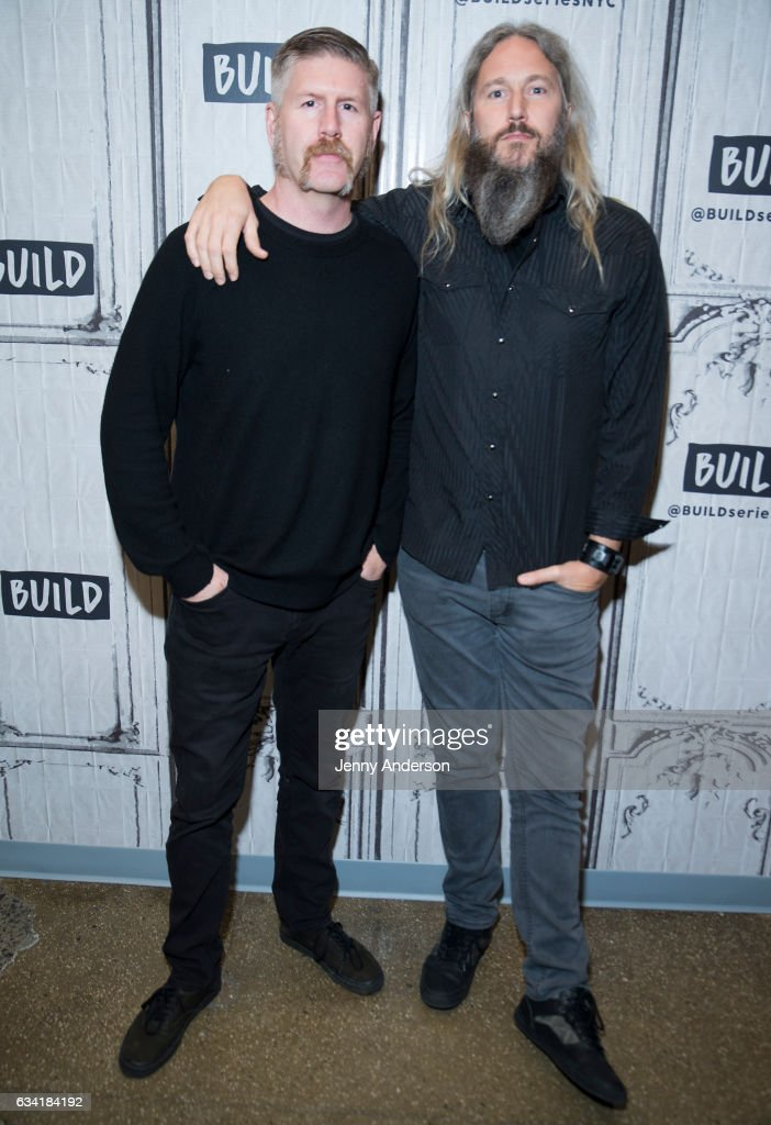 Mastodon band members Bill Kelliher and Troy Sanders attend AOL Build Series at Build Studio on February 7, 2017 in New York City.