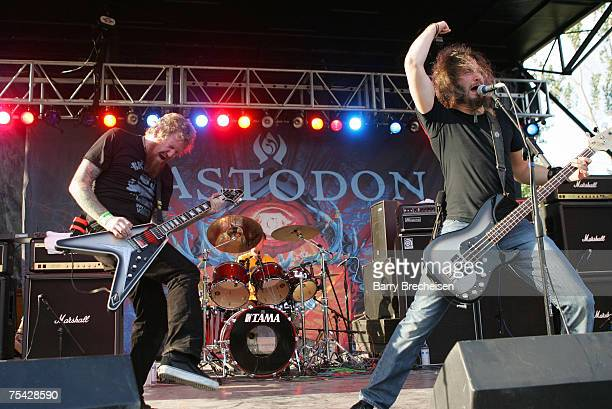 Mastodon during Day 2 of the 2007 Pitckfork Music Festival in Union Park on July 14 2007 in Chicago Illinois
