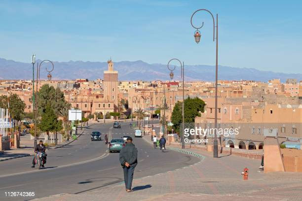 masuda wazzkaitih mosque in ouarzazate - gwengoat stock pictures, royalty-free photos & images