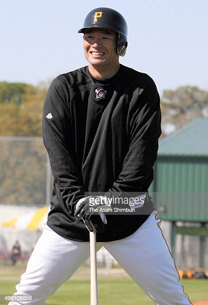 Masumi Kuwata is seen during the Pittsburgh Pirates spring camp on February 17 2007 in Bradenton Florida