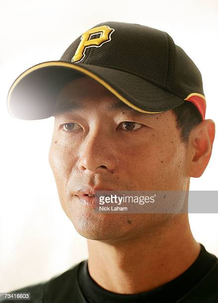Masumi Kuwata poses during Pittsburgh Pirates photo day on February 25 2007 at Pirate City in Bradenton Florida