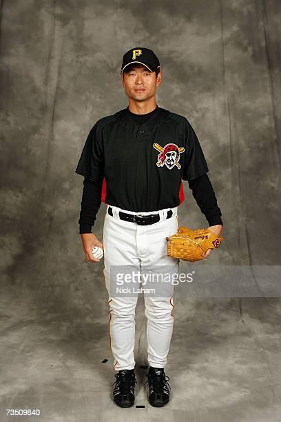 Masumi Kuwata poses during Pittsburgh Pirates photo day on February 25 2007 at Pirate City in Bradenton Florida