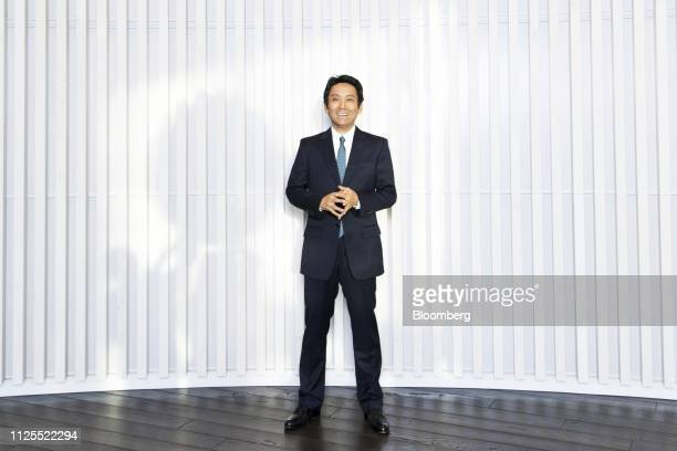 Masumi Minegish president and chief executive officer of Recruit Holdings Co poses for a photograph at the company's headquarters in Tokyo Japan on...