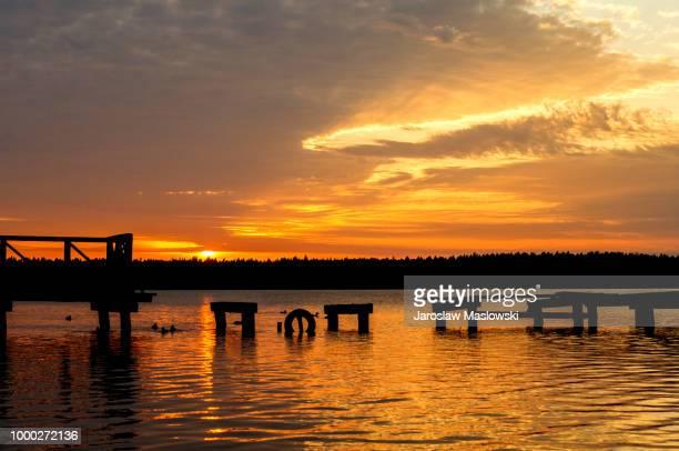 masurian lake district - the wonder of nature. - maslowski stock-fotos und bilder