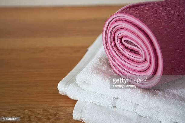 Mat and towels