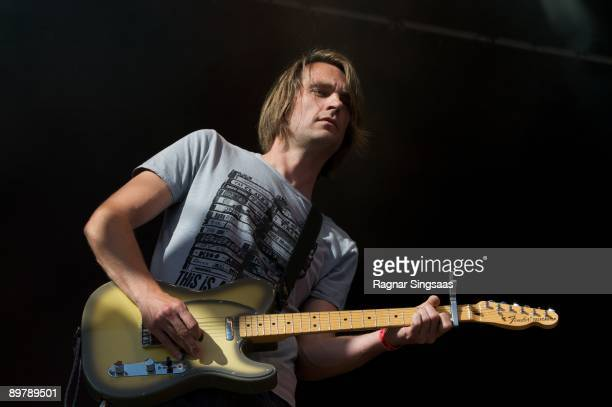 Mat Brooke performs during Day 2 of the Way Out West Festival on August 14 2009 in Gothenburg Sweden