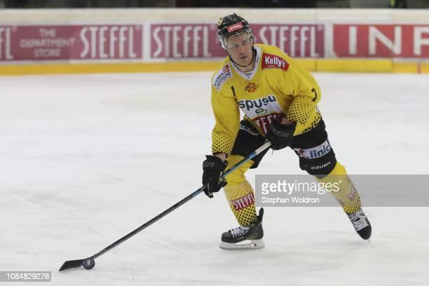 Mat Clark of Vienna during the Vienna Capitals v EC VSV Erste Bank Eishockey Liga at Erste Bank Arena on January 18 2019 in Vienna Austria