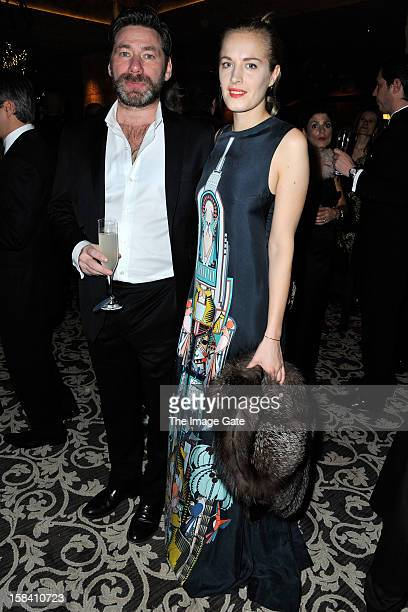 Mat Collishaw and Polly Morgan attend the ASMALLWORLD Gala Dinner for Alzheimer Society at the Gstaad Palace Hotel on December 15 2012 in Gstaad...