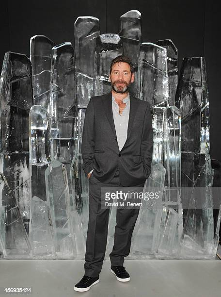 Mat Collishaw attends the dinner hosted by Sandra Choi Creative Director of Jimmy Choo to unveil Jimmy Choo's new VICES collection and installation...