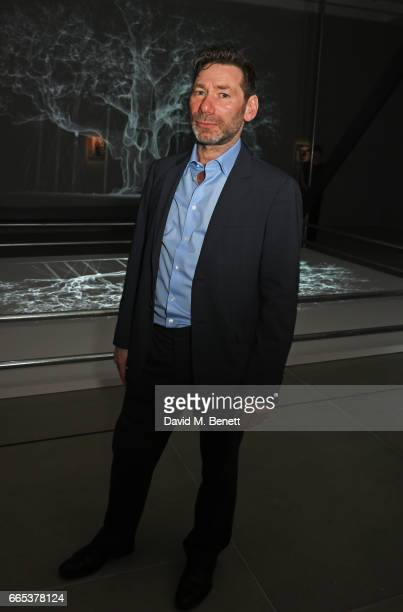 Mat Collishaw attends the Private View of his exhibition 'Centrifugal Soul' at Blain Southern on April 6 2017 in London England