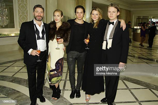 Mat Collishaw Polly Morgan Tomas Auksas Amber Atherton and George Birch arrive at the launch of the Four Seasons Hotel Baku>> on November 17 2012 in...
