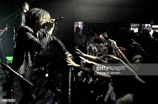 Mat Devine of Kill Hannah performs on stage at O2 Academy on May 5 2010 in Newcastle upon Tyne England