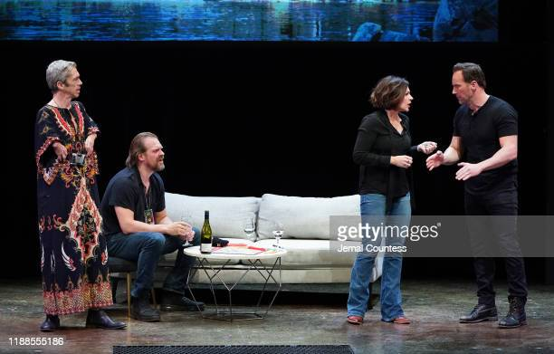 Mat Fraser David Harbour Dagmara Dominczyk and Patrick Wilson perform onstage during the 19th Annual The 24 Hour Plays Broadway Gala Honoring Kathy...