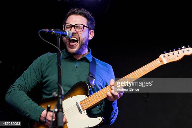 Mat Haigh of Wot Gorilla? performs on stage at Brudenell Social Club on February 5, 2014 in Leeds, United Kingdom.