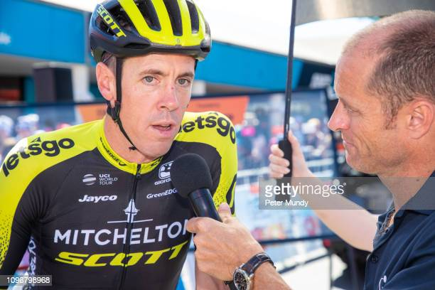 ADELAIDE AUSTRALIA JANUARY 20 Mat Hayman of Australia and MitcheltonSCOTT at the start of his final professional race Stage 6 from McLaren Vale to...