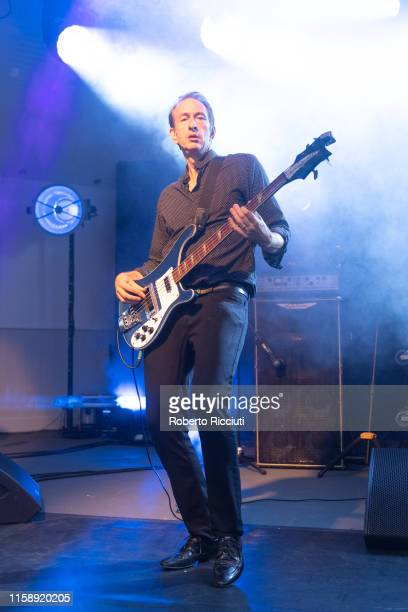 Mat Osman of Suede performs on stage at Kelvingrove Park on July 31, 2019 in Glasgow, Scotland.