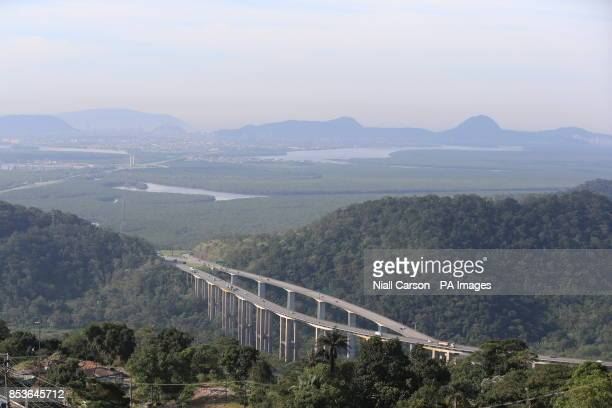Mata Atlantica the Atlantic Rainforest ouside Sao Paolo which was viewed today by Prince Harry as he continues his tour of Brazil