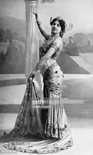 Mata Hari the stage name of Margarete Gertrude Zelle MacLeod She born in Leeuwarden She became a dancer in France after separating from her husband a...
