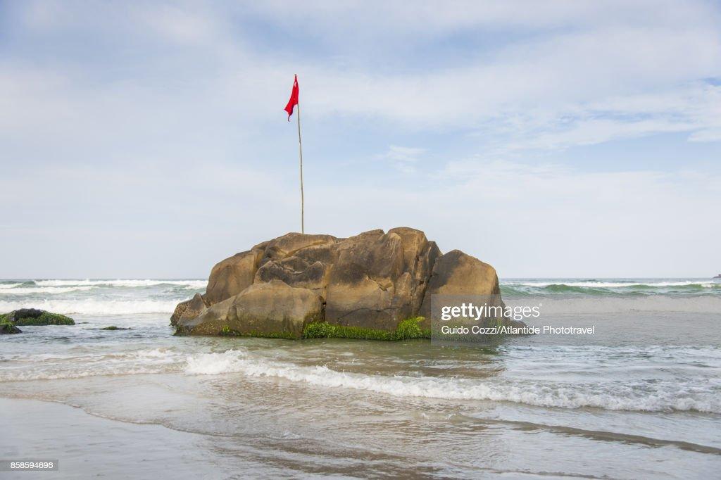 Matadeiro beach at Armacao : Stock-Foto