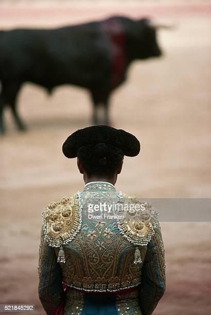 Matador Facing a Bull